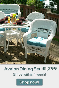 Avalon Wicker Dining Set