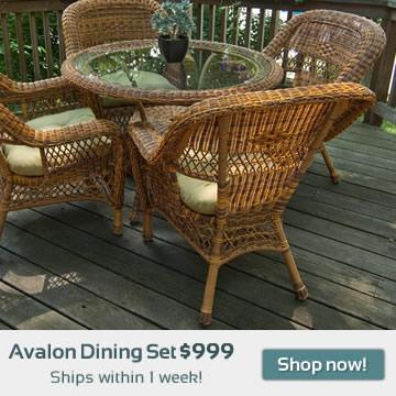 Avalon Wicker Dining Set