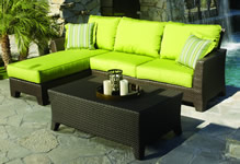Sunset West Wicker Sectional Sets