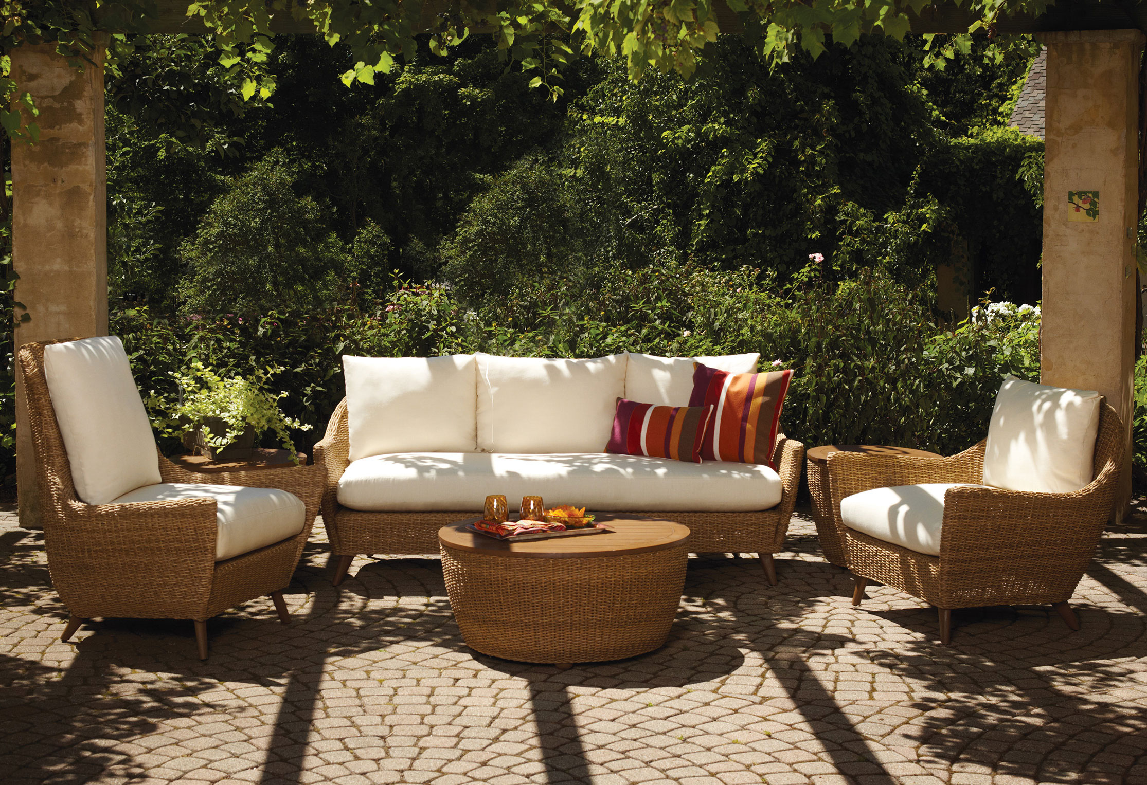 wicker patio furniture. Lloyd Flanders Tobago Replacement Cushions Wicker Patio Furniture U