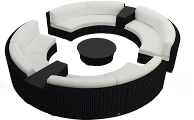 Harmonia Living Curved Sectional Sets