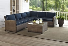 Crosley Wicker Sectional Sets