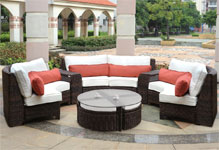 South Sea Rattan Wicker Sectional Sets