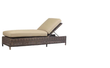South Sea Rattan Chaise Lounges