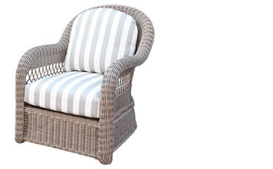 South Sea Rattan Lounge Chairs