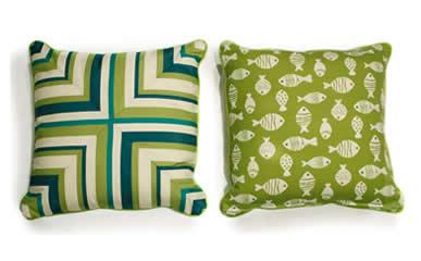 South Sea Rattan Throw Pillows
