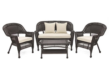 wicker lounge conversation chat sectional patio sets wicker com