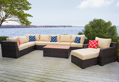Vida Outdoor Wicker Sectional Sets