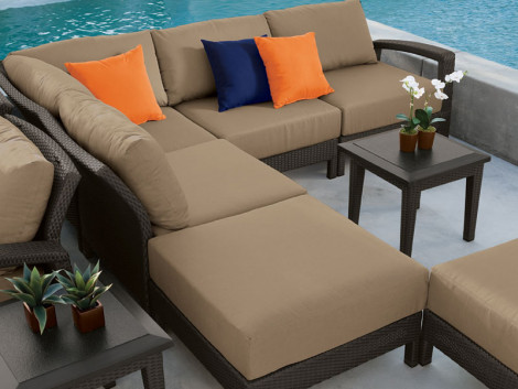 Tropitone Evo 6 Piece Wicker Sectional Set