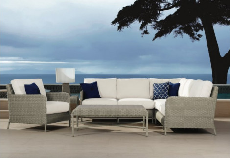 Sunset West Manhattan 6 Piece Wicker Sectional Set