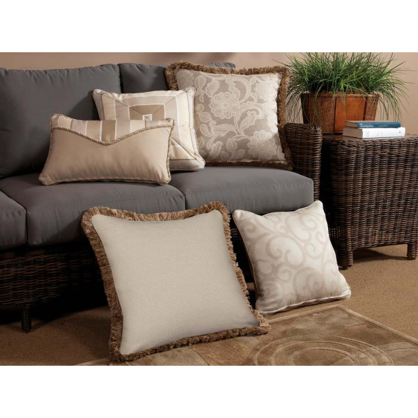 South Sea Rattan All Weather Milano 5 Piece Throw Pillow Set