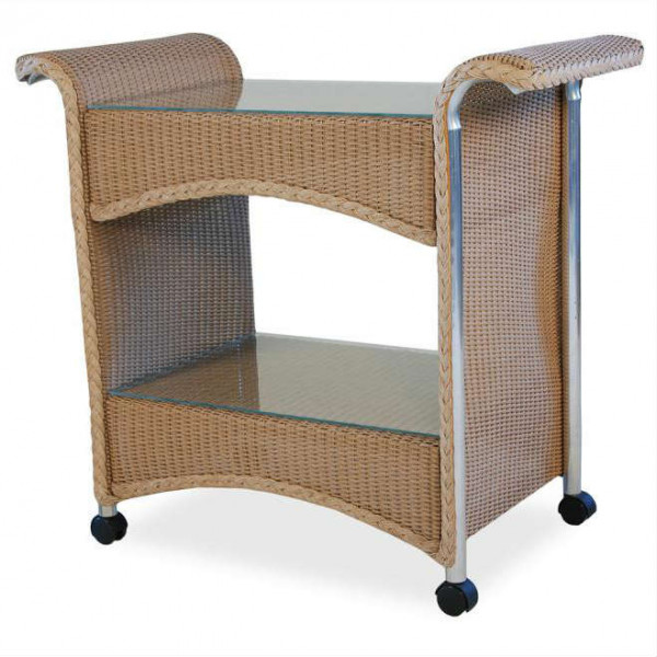 Lloyd Flanders Wicker Serving Cart