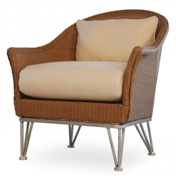 Lloyd Flanders Mod Wicker Lounge Chair with Square Back - Replacement Cushion