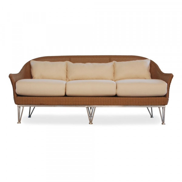 Lloyd Flanders Mod Wicker Sofa with Square Back- Replacement Cushion