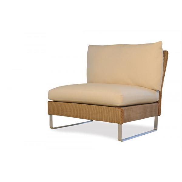 Lloyd Flanders Nova Armless Wicker Lounge Chair - Replacement Cushion