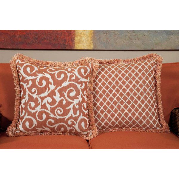 South Sea Rattan All Weather Apricot Large Throw Pillow
