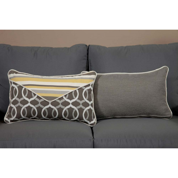 South Sea Rattan All Weather Lemon Grass Small Throw Pillow