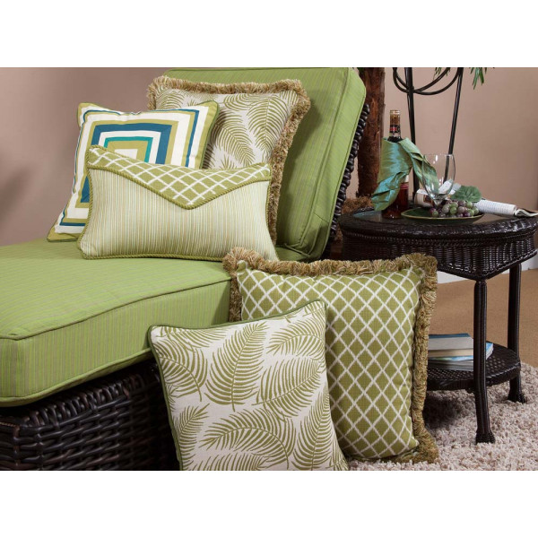 South Sea Rattan All Weather Palm 5 Piece Throw Pillow Set