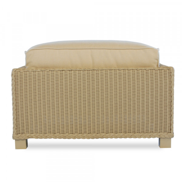 Lloyd Flanders Hamptons Wicker Ottoman - Replacement Cushion