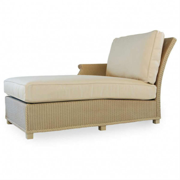 Lloyd Flanders Hamptons Left Arm Facing Wicker Chaise Lounge - Replacement Cushion