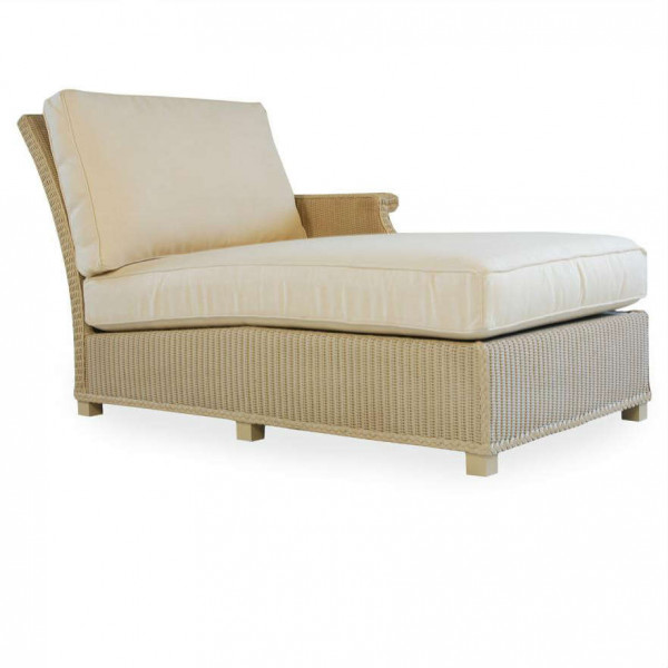 Lloyd Flanders Hamptons Right Arm Facing Wicker Chaise Lounge