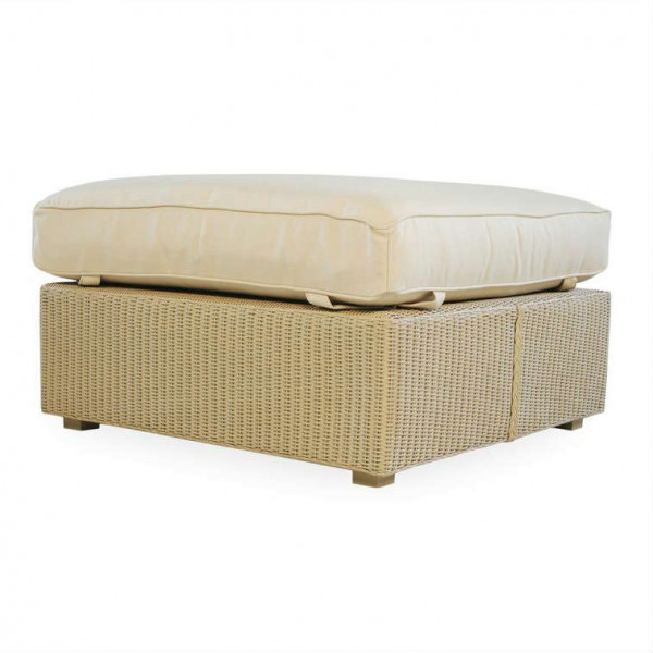 Lloyd Flanders Hamptons Large Wicker Ottoman - Replacement Cushion