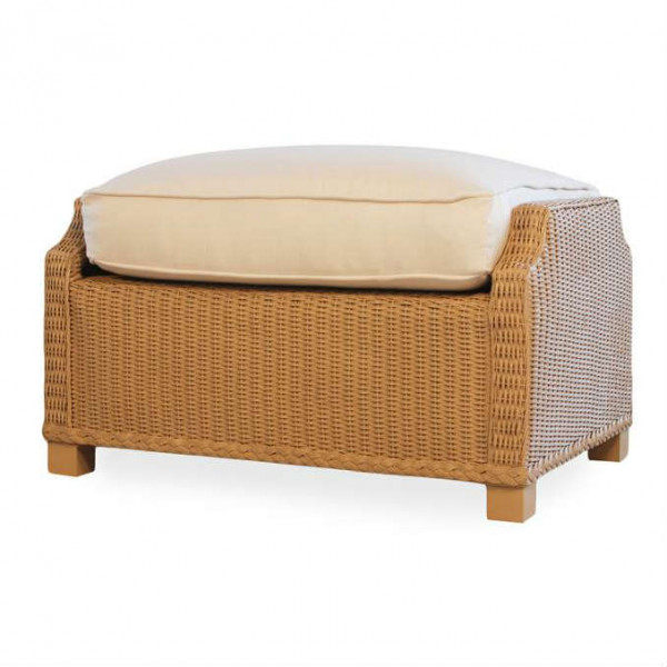 Lloyd Flanders Hamptons Deep Seating Wicker Ottoman - Replacement Cushion