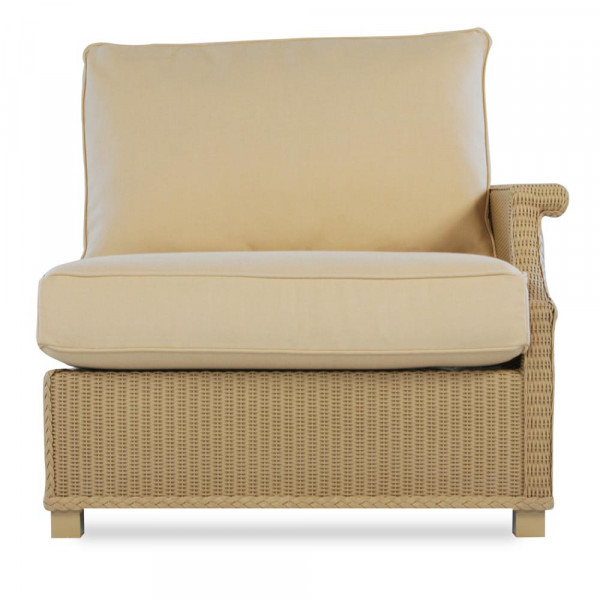 Lloyd Flanders Hamptons Left Arm Facing Wicker Lounge Chair - Replacement Cushion