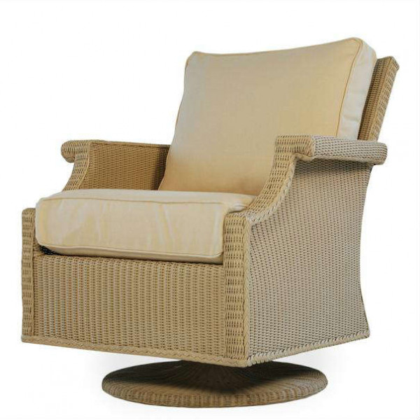 Lloyd Flanders Hamptons Wicker Swivel Rocker