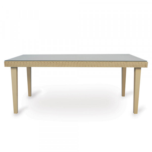 "Lloyd Flanders Hamptons 72"" x 42"" Wicker Dining Table"