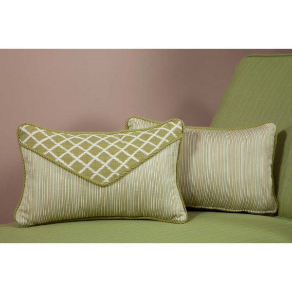 South Sea Rattan All Weather Palm Small Throw Pillow