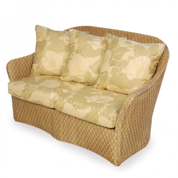Lloyd Flanders Canyon Wicker Loveseat with Contemporary Pillows - Replacement Cushion