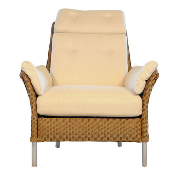 Lloyd Flanders Fusion Highback Wicker Lounge Chair with Arm Pad Set - Replacement Cushion