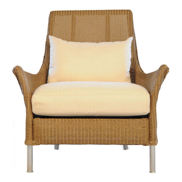 Lloyd Flanders Fusion Highback Wicker Lounge Chair with Square Back - Replacement Cushion