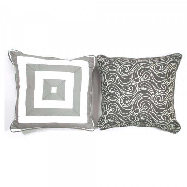 South Sea Rattan All Weather Platinum Medium Throw Pillow