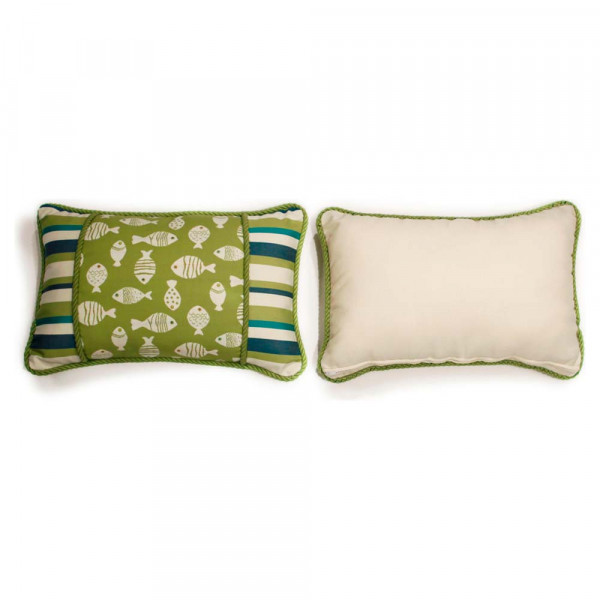 South Sea Rattan All Weather Aegean Small Throw Pillow
