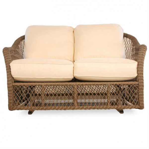 Lloyd Flanders Vineyard Wicker Love Seat Glider Replacement Cushion