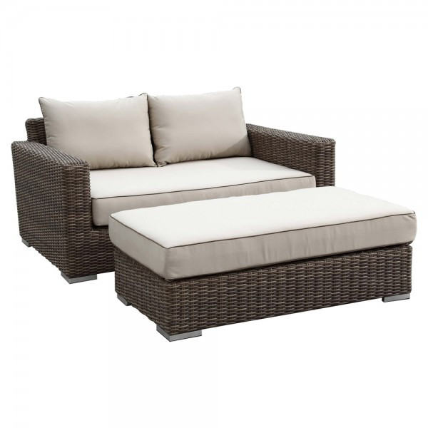 Sunset West Coronado 2 Piece Double Wicker Chaise Lounge - Replacement Cushion
