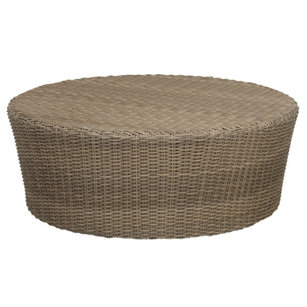 Sunset West Coronado Round Wicker Coffee Table Wicker Coffee Tables Wicker Seating