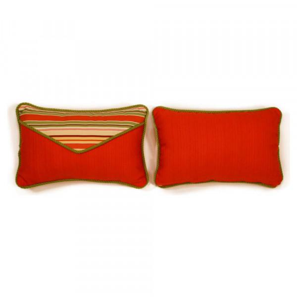 South Sea Rattan All Weather Geranium Small Throw Pillow
