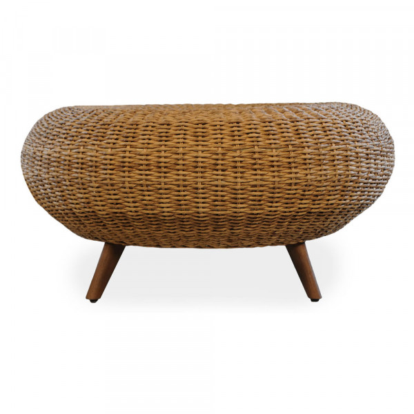 Lloyd Flanders Tobago Large Wicker Ottoman