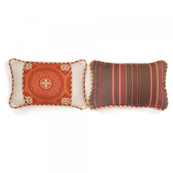 South Sea Rattan All Weather Sunset Small Throw Pillow