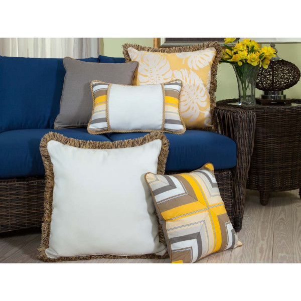 South Sea Rattan All Weather Sunshine 5 Piece Throw Pillow Set