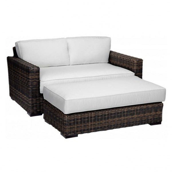 Sunset West Montecito Double Wicker Chaise Lounge - Replacement Cushion
