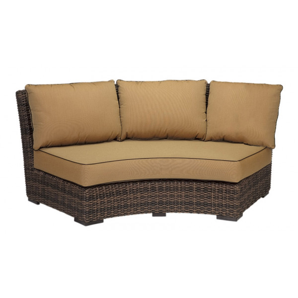 sunset west montecito curved wicker sofa wicker sofas wicker seating wicker