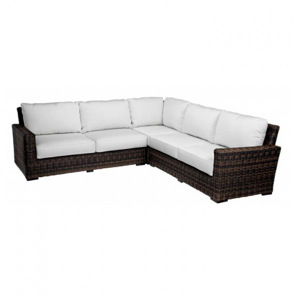 Sunset West Montecito 3 Piece Wicker Sectional Sets