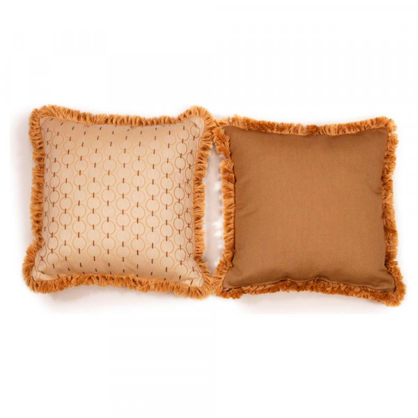 South Sea Rattan All Weather Coal Classic Large Throw Pillow