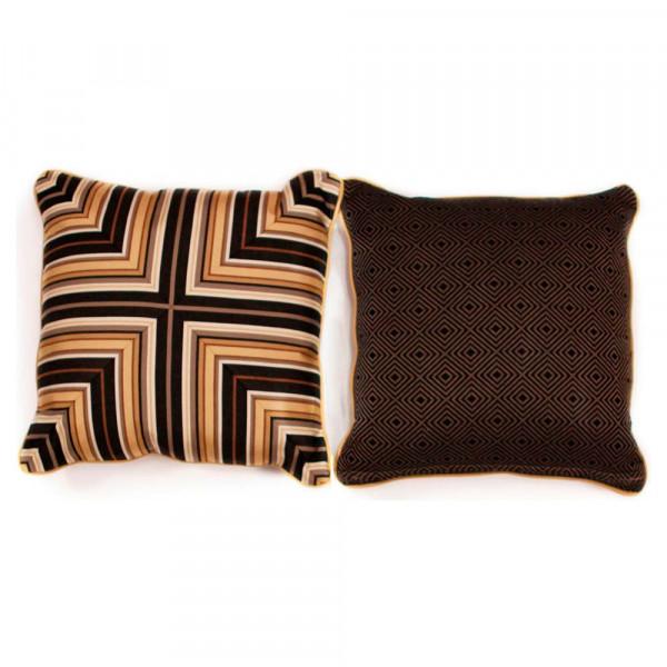 South Sea Rattan All Weather Coal Classic Medium Throw Pillow