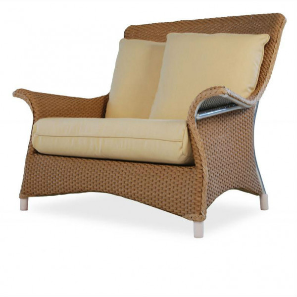 Lloyd Flanders Mandalay Wicker Chair and a Half