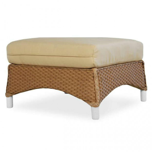 Lloyd Flanders Mandalay Wicker Ottoman